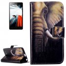 For Lenovo A6000 Elephant Pattern Leather Case with Holder, Card Slots & Wallet