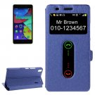 For Lenovo K3 Note Dark Blue Flip Leather Case with Caller ID Display & Holder