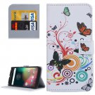 For Moto G 4 Gen Butterfly Pattern  Leather Case with Holder, Card Slots & Wallet