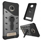 For Moto Z Black Spin Tough Armor TPU + PC Rotating Case with Holder