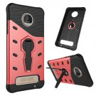 For Moto Z Play Red Spin Tough Armor TPU + PC Rotating Case with Holder