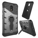 For Moto E  3 Gen Gray Spin Tough Armor TPU + PC Rotating Case with Holder