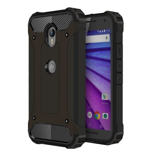 For Moto G (3rd gen) Black Tough Armor TPU + PC Combination Case