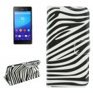 For Sony Xperia C6 Zebra Pattern Leather Case with Holder, Card Slots & Wallet