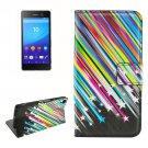 For Sony Xperia C6 Meteor Pattern Leather Case with Holder, Card Slots & Wallet