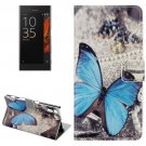 For Xperia XZ Butterfly Pattern Leather Case with Holder, Card Slots & Wallet