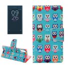 For Xperia XZ Owls Leather Case with Holder, Card Slots & Wallet