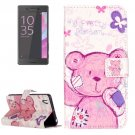 For Xperia X Performance Bear Leather Case with Holder, Card Slots & Wallet