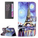 For Xperia X Performance Painting Leather Case with Holder, Card Slots & Wallet