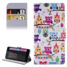 For Xperia E5 Owls Pattern Leather Case with Holder, Card Slots & Wallet