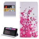 For Xperia E5 Blossom Pattern Leather Case with Holder, Card Slots & Wallet