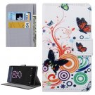 For Xperia X Performance Butterfly Pattern Leather Case with Holder, Card Slots