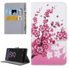 For Xperia X Performance Blossom Pattern Leather Case with Holder, Card Slots