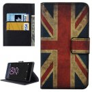 For Xperia X Performance UK Flag Pattern Leather Case with Holder, Card Slots