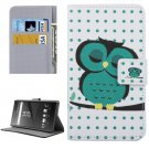 For Xperia XA Owl Pattern Leather Case with Holder, Card Slots & Wallet
