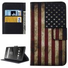 For Xperia XA US Flag Pattern Leather Case with Holder, Card Slots & Wallet