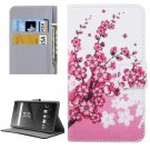 For Xperia X Blossom Pattern Leather Case with Holder, Card Slots & Wallet