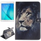 For Tab A 8.0 T350 Lion Pattern Leather Case with Holder, Card Slots & Wallet