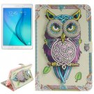 For Tab A 8.0 T350 Owl Pattern Leather Case with Holder, Card Slots & Wallet