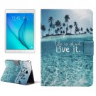 For Tab A 8.0 T350 Ocean Pattern Horizontal Flip Leather Case with Holder