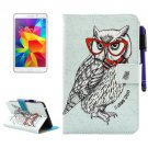 For Tab 4 7.0 Owl Smart Cover Leather Case with Holder, Wallet & Card Slots