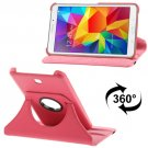 For Tab 4 7.0 Magenta Litchi Texture Leather Case with 2-angle Rotating Holder