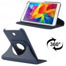 For Tab 4 7.0 Dark Blue Litchi Texture Leather Case with 2-angle Rotating Holder