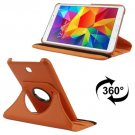 For Tab 4 7.0 Orange Litchi Texture Leather Case with 2-angle Rotating Holder