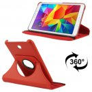For Tab 4 7.0 Red Litchi Texture Leather Case with 2-angle Rotating Holder