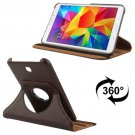 For Tab 4 7.0 Brown Litchi Texture Leather Case with 2-angle Rotating Holder