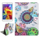 For Tab 4 7.0 Conch Flower Pattern Universal Flip Leather Case with Holder