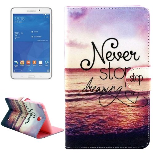 For Tab 4 7.0 Dreaming Flip Leather Case with Holder, Wallet & Card Slots