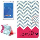 For Tab 4 7.0 Smile Flip Leather Case with Holder, Wallet & Card Slots