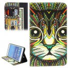 For Tab 4 7.0 Ethnic Cat Flip Leather Case with Holder, Wallet & Card Slots