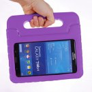 For Tab 4 7.0 Purple EVA Rugged Foam Case with Handle and Holder
