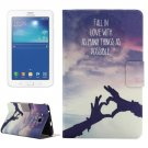 For Tab 3 Lite 7.0 Sign Pattern Horizontal Flip Leather Case with Holder