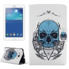 For Tab 3 Lite 7.0 Skull Pattern Horizontal Flip Leather Case with Holder
