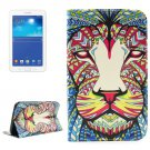For Tab 3 Lite 7.0 Lion 2 Sided Leather Case with Holder, Card Slots & Wallet