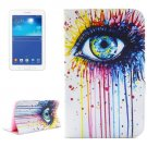 For Tab 3 Lite 7.0 Eye 2 Sided Leather Case with Holder, Card Slots & Wallet