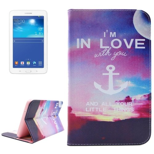 For Tab 3 Lite 7.0 Love 2 Sided Leather Case with Holder, Card Slots & Wallet