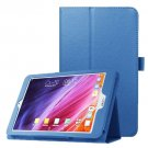 For Iconia One 8 Blue Litchi Texture Horizontal Flip Leather Case with Holder