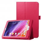 For Iconia One 8 Magenta Litchi Texture Horizontal Flip Leather Case with Holder