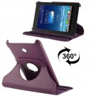For Fonepad 7 Purple Litchi Texture Flip Leather Case with Rotating Holder