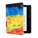 For Amazon Kindle Oasis Cornfield Pattern Flip Leather Case
