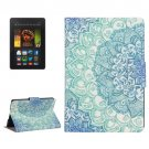 For Kindle Paperwhite 2 Flower Pattern Leather Case with Holder & Card Slots