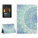 For Kindle Fire HDX 7 Flower Pattern Leather Case with Holder & Card Slots
