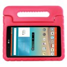 For LG G Pad F 8.0 V495 Magenta EVA Bumper Case with Handle & Holder