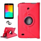 For LG G Pad 7.0 Red Litchi Flip Leather Case with 2 Gears Rotating Holder