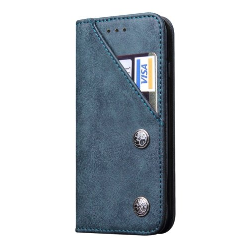 For iPhone 7 Dark Blue Bronze Texture Flip Leather Case with Holder & Card Slots