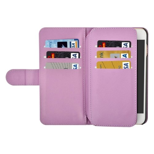 For iPhone 7 Plus Purple Flip Leather Case with Card Slots, Wallet & Lanyard